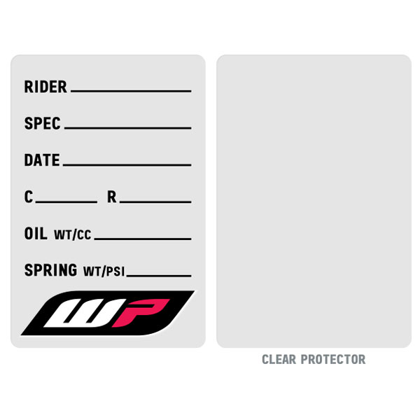suspension spec sticker